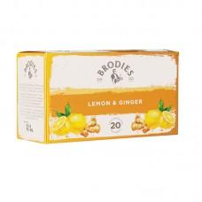 Τσάϊ Brodies Lemon & Ginger (20 τμχ)