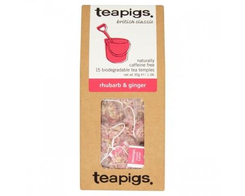 Τσαϊ Teapigs Rhubarb & Ginger (15 τμχ)